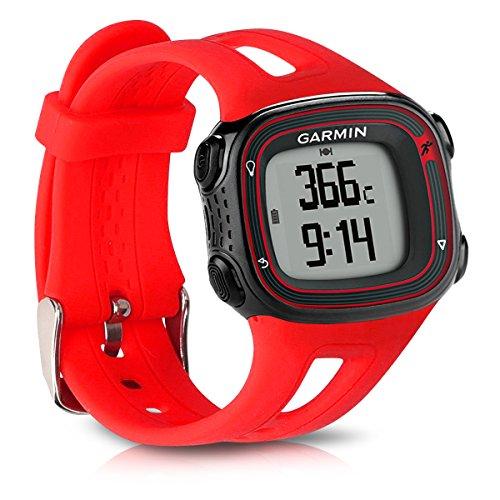kwmobile Pulsera Compatible con Garmin Forerunner 10/15 - Brazalete de Silicona en Rojo sin Fitness Tracker