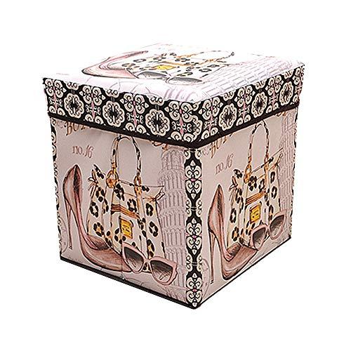 Cheaonglove sitztruhe sitzhocker mit stauraum Puffs Kleiner osmanischer Stauraum Fußhocker Fußschemel Hocker & Puffs graue Ottomane Aufbewahrungshocker 5