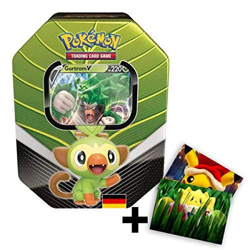 Lively Moments Pokemon Karten Tin Box SCSH01 Schwert und Schild Gortrom V Sammelkartenspiel Deutsch DE / Metallbox + Exclusive GRATIS Grußkarte
