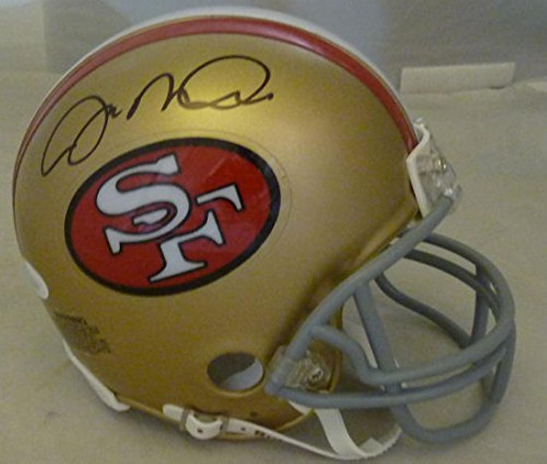 Joe Montana Autographed San Francisco 49ers mini helmet Name Only JSA