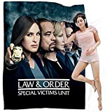 DIYHMH Law and Order Special Victims Unit Blanket Fuzzy Fluffy Plush Micro Soft Flannel Throw Blanket SVU Merch 80x60 inch