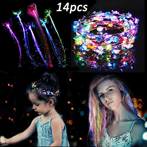 FunPa LED Flower Headband,14Pcs ...