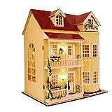 Puppenhaus Dollhouse Bausatz aus Holz mit kompletter Einrichtung incl. Beleuchtung DIY