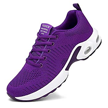 Alicegana Women s Athletic Workout Sneakers Comfortable Walking Breathable Running Air Cushion Casual Gym Sport Shoes Purple