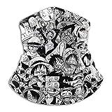 OnePie-ce Luffy Zoro Chopper Anime Windproof Neck Gaiter Bandana Face Scarf Cover Balaclava for Skiing