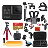 GoPro Hero 8 (Black) Action Camera + 32GB Extreme Micro-SD Card + 38 Piece Accessory Kit