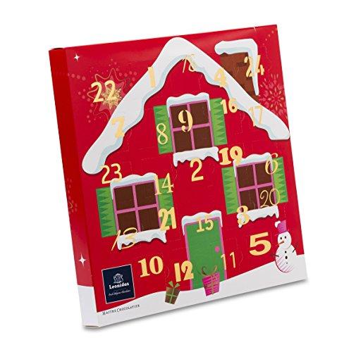 Leonidas Adventskalender Schneehaus / Pralinen / 320g netto / süße Vorweihnachtszeit / Weihnachtsgeschenk Frau / Mann / Weihnachtskalender / Pralinen / Schokolade / alkoholfrei / Kalender