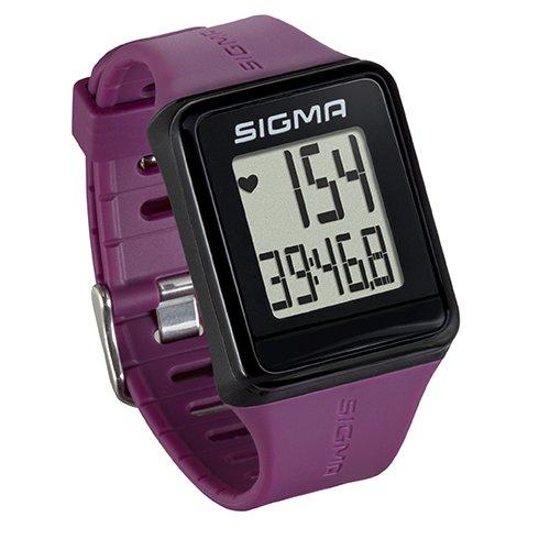 Sigma Sport Pulsuhr iD.GO plum, Herzfrequenz-Messung, Fitness-Laufuhr, Lila