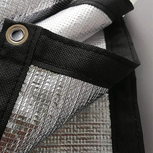 MHKJ Zeil Zonnebrandcrème Scherm Net Tarp 99% Isolatie Reflecterende Aluminium folie Outdoor Patio Balkon Dak Vensterbank Tarpaulin, 120g/m2