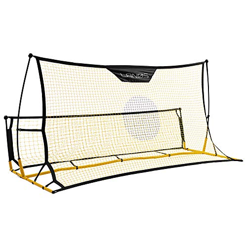 Lanos Portable Soccer Goals with Rebounder - Lightweight Soccer Nets for Backyard, with Ground Stakes, Carry Bag - Rebound Soccer Goal - Premium Soccer Training Equipment for Kids and Adults