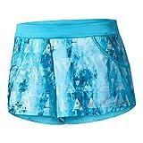 adidas Women's Tennis Melbourne Line Shorts, Samba Blue Mystery Blue, Medium