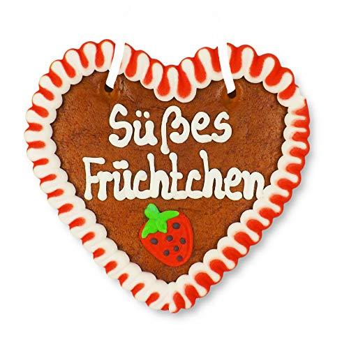 Lebkuchenherz 12cm - Süßes Früchtchen - backfrische Süßigkeit aus Bayern