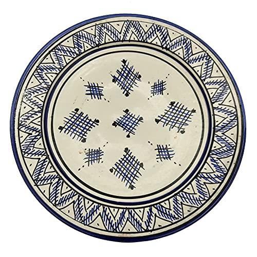 Plato de cerámica terracota pared capacidad étnico marroquí Tunisino 2104211046