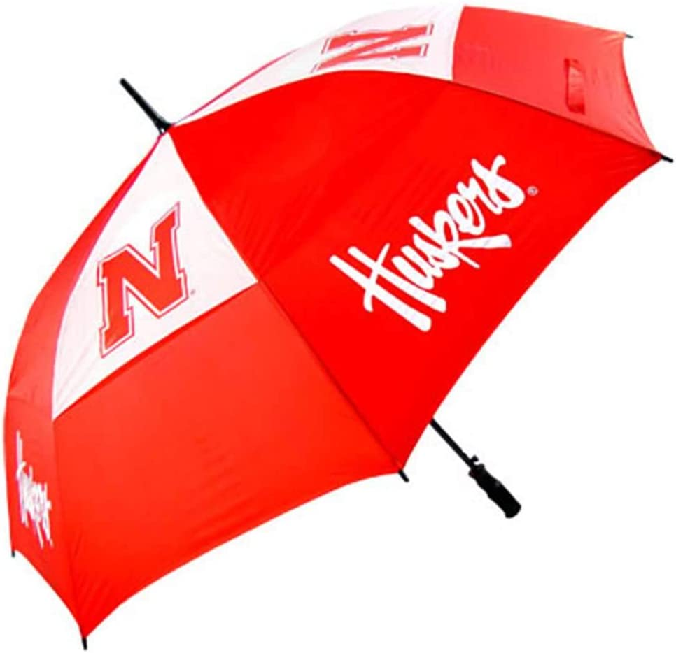 Mpdirect Max 72% OFF Inc. Nebraska Cornhuskers Golf Free shipping on posting reviews Umbrella 62