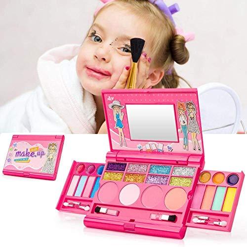 SYXX Make Up Set Toys For Girls, cosmetici Giocattoli for bambini, l'insieme di trucco for le ragazze, la principessa Ragazza di trucco giocattolo del labbro dell'ombretto, non tossico simulazione omb