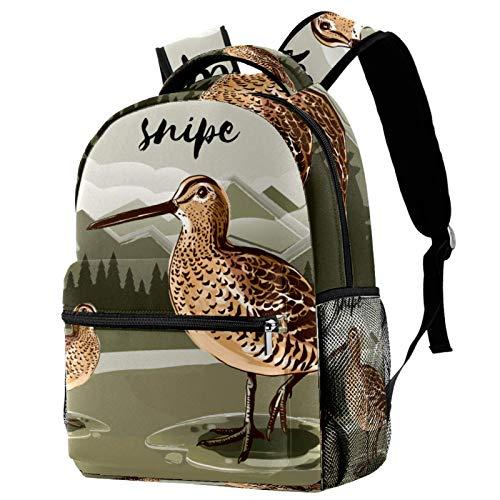 Mochila Snipe Bird School Bag Mochila de viaje casual para mujeres, adolescentes y niñas