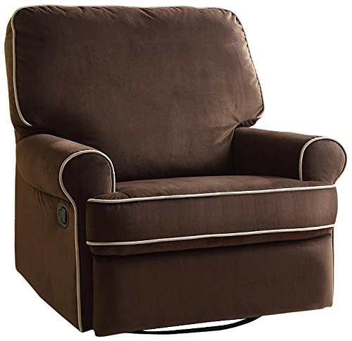Pulaski Birch Hill Swivel Glider Recliner, Coffee with Doe Piping