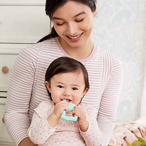 Munchkin The Baby Toon Silicone Teether Spoon, Elephant, Mint (As Seen On Shark Tank)