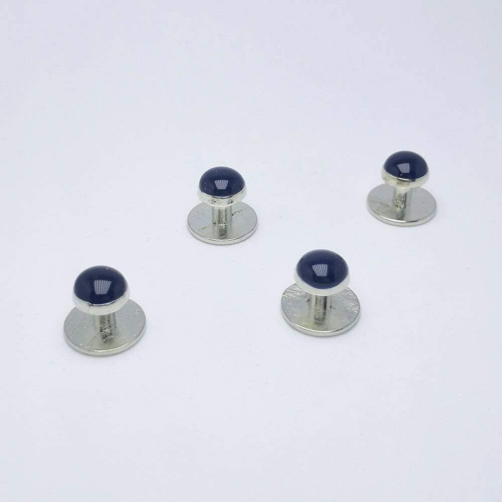 Vesna 5 Kinds Of Color Enamel Men Studs Cufflinks Shirt Business Rhodium-Plated Enamel 4pcs Set Studs Withe Black Bule Cufflink (CL190)