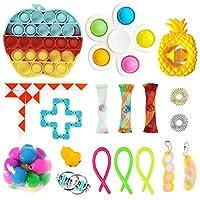 フィジットパック、感覚の指着のおもちゃセット、18パックアンチストレスおもちゃセット、ストレスと不安の救済のためのfigetget toysパックと自閉症ストレス玩具