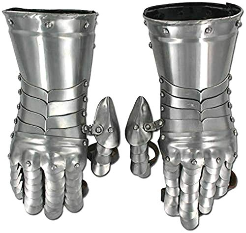 THORINSTRUMENTS (with device) Medieval Knight Armor Gloves Roman Gothic Steel Gauntlets