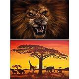 GREAT ART 2er Set XXL Poster – Savannentiere –