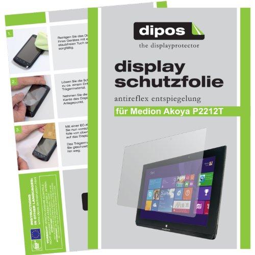 dipos I 2X Schutzfolie matt kompatibel mit Medion Akoya P2212T / P2211T Folie Displayschutzfolie