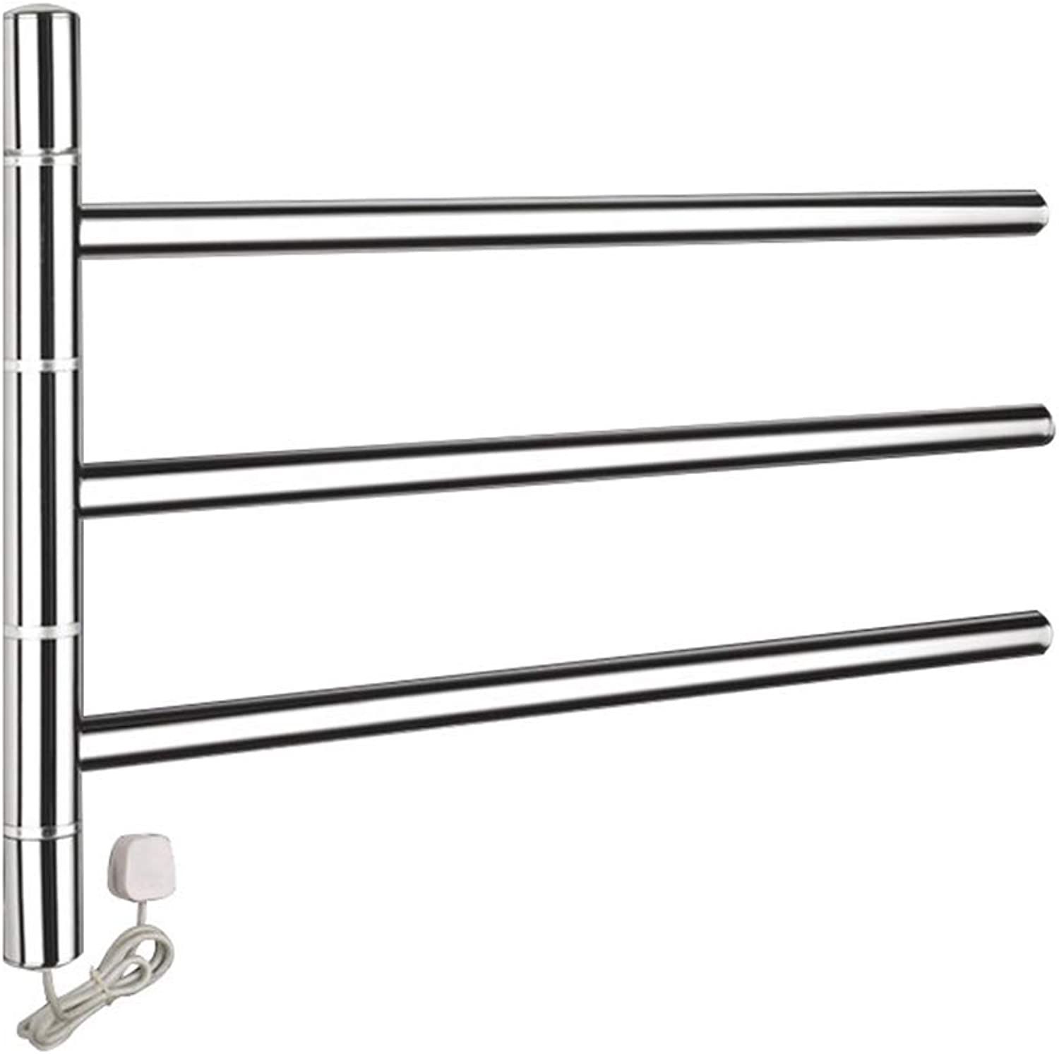 Electric towel rack Household Wall-Mounted Shelf Sterilization dehumidification Intelligent Constant Temperature 304 Stainless Steel for Bathroom Kitchen