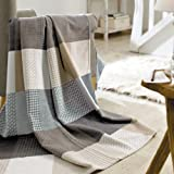 Solare Cotton Pure Patchwork Throw Blanket by Ibena