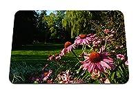 26cmx21cm マウスパッド (エキナセア花花壇緑公園) パターンカスタムの マウスパッド