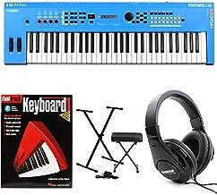 Yamaha MX61 Essential Keyboard Bundle - Blue
