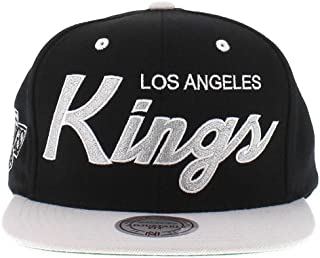 Mitchell and Ness NHL Los Angeles Kings 2 Tone Team Script Snapback Cap