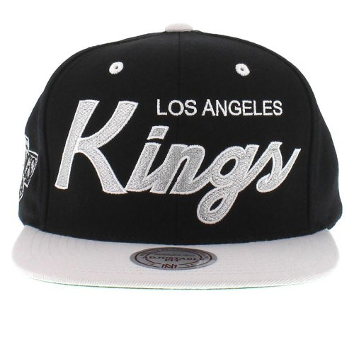 aac77838815 Mitchell and Ness NHL Los Angeles Kings 2 Tone Team Script Snapback Cap