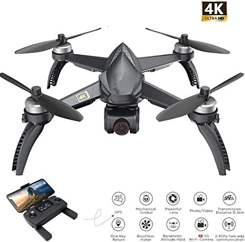 RVTYR Kamera-Drohne, mit Kamera 4K Drone 5G WiFi Brushless RC Quadcopter GPS Track-Flight Point of Interest Geste Photo, Sein kann als Geschenk for Ihr Kind gegeben, Schwarz Mini drohne mit Kamera