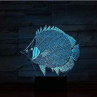 3D LED錯視ランプ 視覚ナイトライト海の動物サメクラゲイルカタッチスイッチ家の装飾ランプRGB色照明ランプ