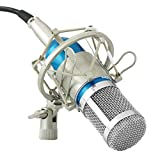 Powerpak BM 800 Blue Professional Condenser Microphone with Metal Shock Mount