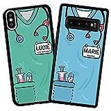 imafan - Coque personnalisée avec Uniforme d'infirmière/Aide Soignant/Docteur/Doctoresse/Autres...