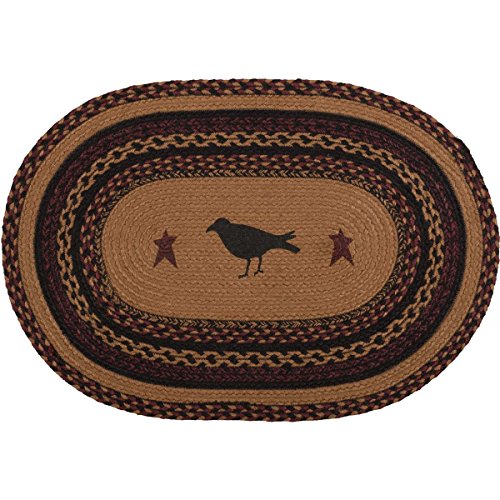 VHC Brands Heritage Farms Crow Jute Oval Rug 20x30 Country Braided Flooring, Tan
