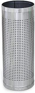 Yxsd Metal Round Hanging Umbrella Barrel Wrought Iron Household Umbrella Bucket Rain Gear Storage Umbrella Stand(22x57cm) (Color : Silver)