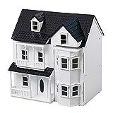 HILIROOM Casa de muñecas de Madera Casa de Campo, Clásicos de Madera Casa de muñecas Victoriana, Casa de muñecas para niños, Tamaño Grande Exquisitamente diseñado con escaleras para niñas Niños