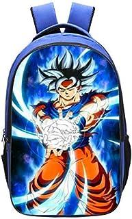 Mochila Casual Escuela De Dragon Ball De Dibujos Animados Mochila Anime Goku Doble Capa Niño Cosplay Bookbag Regalo para Niños
