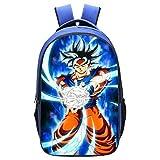 PPWYY Mochila Casual Escuela De Dragon Ball De Dibujos Animados Mochila Anime Goku Doble Capa Niño...