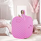 GJCrafts Personal Sauna Tent, Portable Sauna Steam Tent, Lightweight Steam Sauna Spa with Upgrade 2.6L Steamer with Folding Chair, 80X80X98cm, 2 Person Full Body Leg Relaxation Spa with Remote