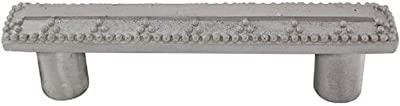 Vicenza Designs P1144 Gioiello 3-Inch Elizabethan Pull Vintage Pewter
