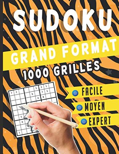 Sudoku Grand Format 1000 grilles: Sudoku Classique - 1000 Grilles - Niveaux Facile moyen difficile et Expert – Livre Sudoku pour Adultes et enfants