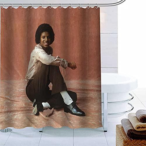 None brand Polyestergewebe benutzerdefinierte Michael Jackson-Duschvorhang moderner Badezimmervorhang wasserdicht mit Hakenbadvorhang-W180xh180cm