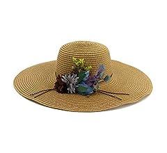 JIADUOBAOSEN Fashion Elegant Women Straw Bucket Sun Hat for Summer Beach Visor Cap with Bowknot