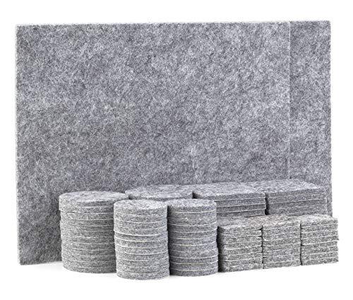 TYEERS Möbeldynor trägolv skydd 98 st möbelfiltdynor golvskydd för möbler – grå