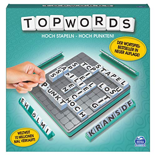 Spin Master Games 6055026 - Topwords - Der 3D-Wortspielklassiker, 2-4 Spieler ab 8 Jahren