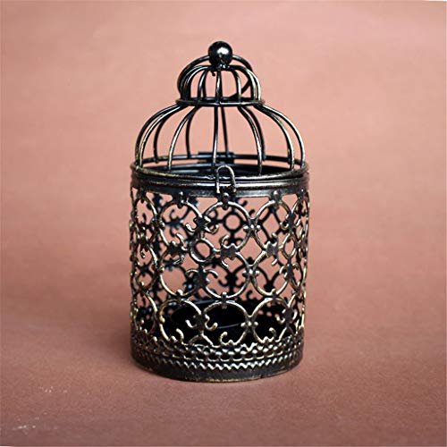 Fineday Candlestick Retro Hollow Bird Cage Candle Holder Best Gift Xmas Home Decoration, Home Decors for Christmas New Year (Brozen)